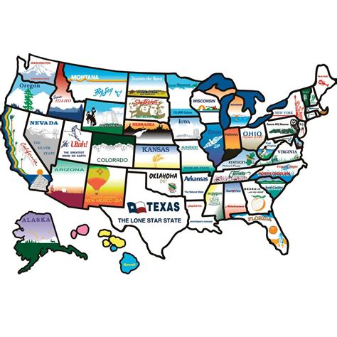 map usa rv parks states sticker brothers 100 travel accessories