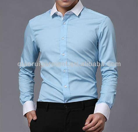 Kemeja Blue Square Kemeja Slimfit Kemeja Formal Kemeja Lengan Mens Comfortable Sleeve Light Blue Slim Fit Twill