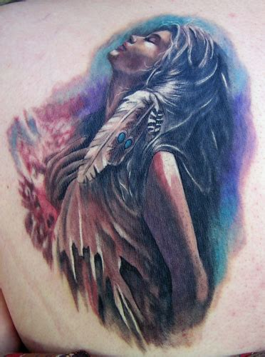 indian lady by brandon heffron tattoonow