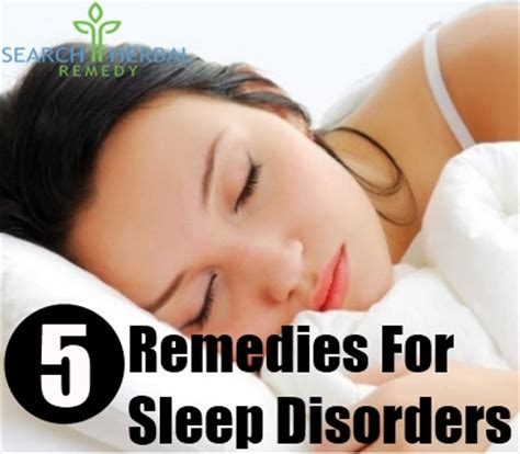 5 remedies for sleep disorders treatments cure