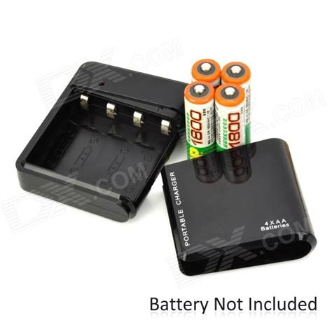 Convert L To Battery Power by 4 Aa Battery Into Portable Power Bank Converter Black Free Shipping Dealextreme