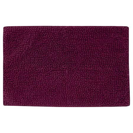 Plum Bath Rugs George Home Plum Microfibre Plain Chenille Bath Mat Towels Bath Mats Asda Direct