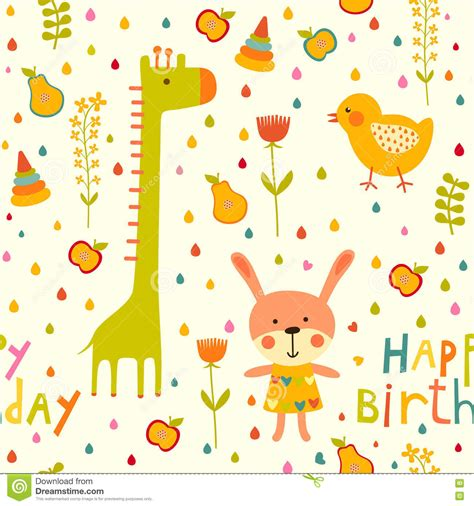 colorful baby colorful baby seamless background happy birthday greeting