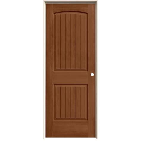 28 Prehung Interior Door Jeld Wen 28 In X 80 In Santa Fe Hazelnut Stain Left Molded Composite Mdf Single Prehung