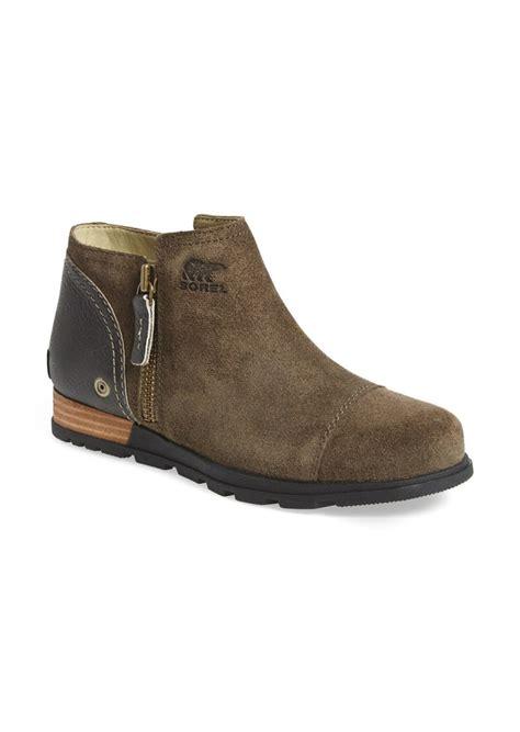sorel plus major low side zip leather boots sorel sorel major low ankle boot shoes shop