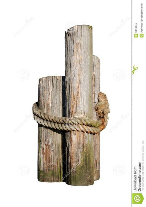 Wood 3 Pier Post Tealight Log Pilings Royalty Free Stock Photo Image 9454045