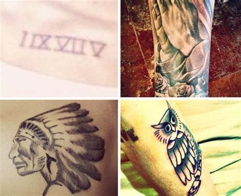 how many tattoos does justin bieber have justin bieber s collection addicted to ink pop