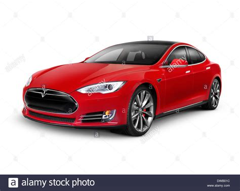 car white background 2014 tesla model s luxury electric car isolated on
