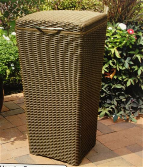outdoor patio garbage can new in box keter large resin wicker indoor outdoor waste