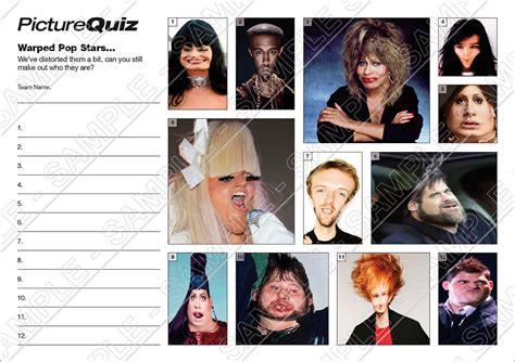 printable quiz picture round quiz number 041 with warped pop stars picture round