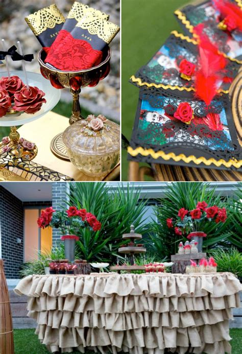 rose themed party kara s party ideas flamenco spanish dancer rose themed