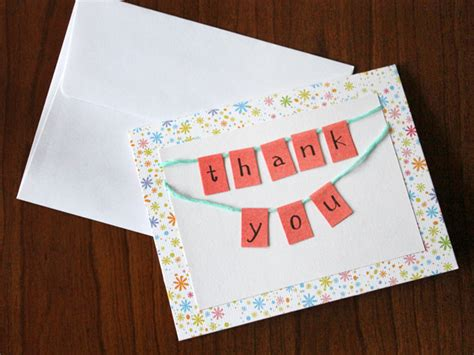 make photo thank you cards how to make a bunting thank you card loulou downtown