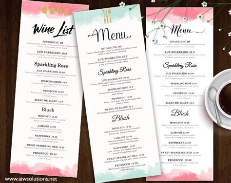 Menu Card Design Templates by Design Templates Menu Templates Wedding Menu Food