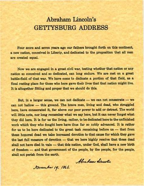 25 best ideas about gettysburg address text on 25 best ideas about abraham lincoln gettysburg address on