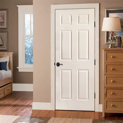 interior doors for home colonist door mastercraft 30 quot x 80 quot primed 6 panel