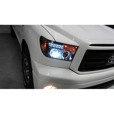 2004 toyota tundra led headlights smoked 07 13 tundra sequoia halo projector headlights