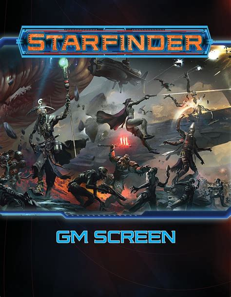 starfinder flip mat starship books paizo starfinder roleplaying starfinder gm screen