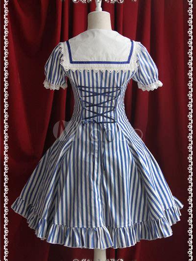Bow Sailor Collar Sleeve Top classic stripe cotton sleeves sailor collar bow