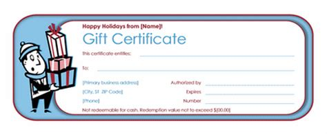 gift certificate templates microsoft office gift