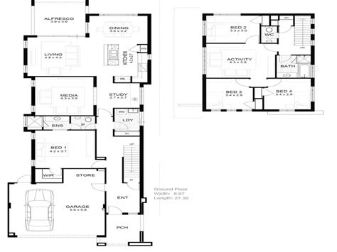 narrow lot floor plans bungalow narrow lot house plan lot narrow plan house