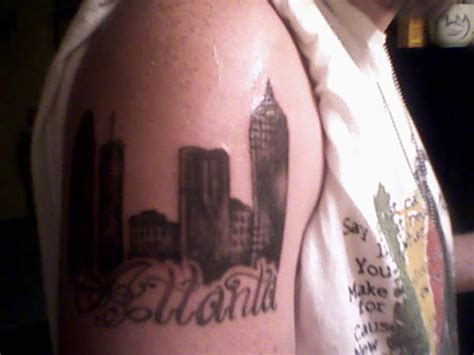 atlanta skyline tattoo atlanta skyline