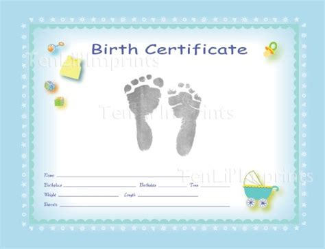 tenlil imprints birth certificate kit blue black