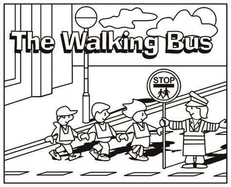 free coloring pages of road safety for children