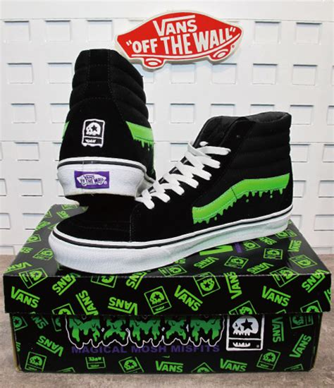 Vans Sk8 Hi X Magical Mosh Misfits Green mxmxm news
