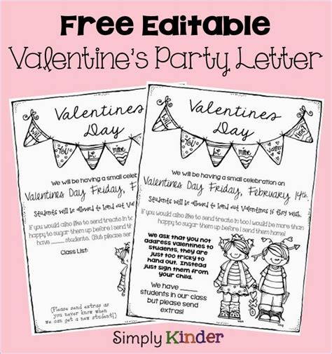 valentines letter for s day letter february in the classroom