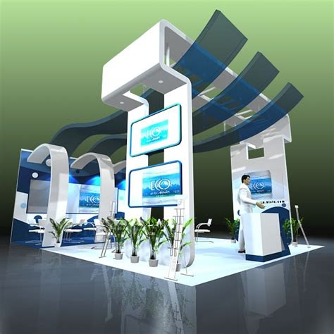 booth design free exhibit booth design 020 3d models cgtrader com