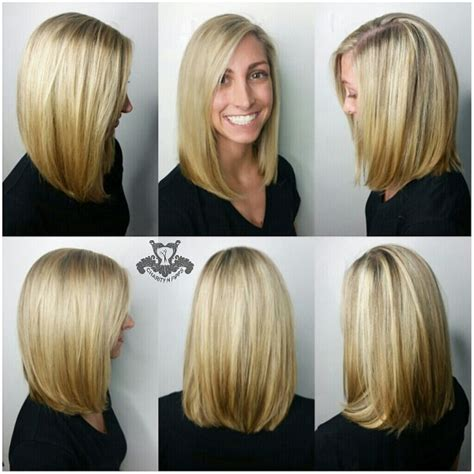 lob hairstyles 360 view inverted hairstyles thick hair back views short