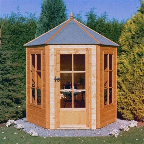 Hexagonal Sheds by Shire Hexagonal Summerhouse Garden