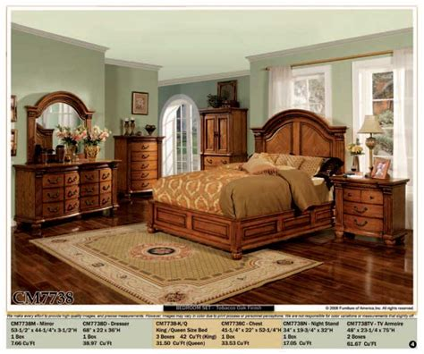 all wood bedroom sets 4 pc all wood bedroom clairfield tobacco 5 pc panel