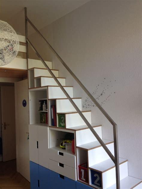 treppenschrank ikea umbau kinderzimmer raumspartreppe minimalistisch k 246 ln