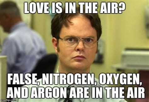 Love Is In The Air Meme - dwight schrute meme imgflip