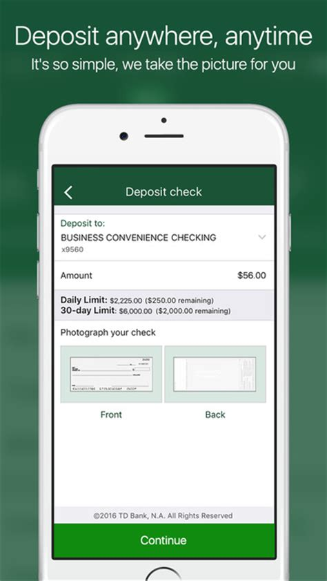 td bank check deposit app td bank us on the app store