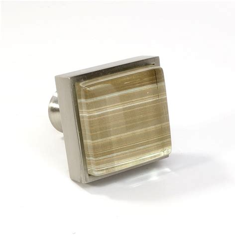 Square Kitchen Cabinet Knobs by Glass Brushed Nickel Square Knob Modern Cabinet