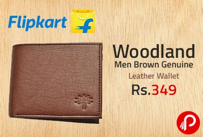 woodland men brown genuine leather wallet at rs.349