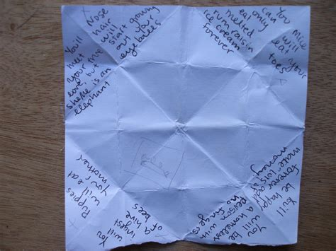what to write in a paper fortune teller found when sheep go moo