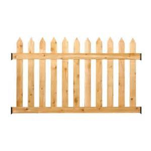 home depot fence pickets 3 5 ft h x 6 ft w cedar spaced picket routed fence panel