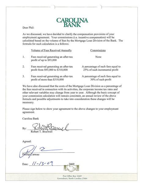 employment agreement carolina bank holdings inc form 10 k ex 10 26