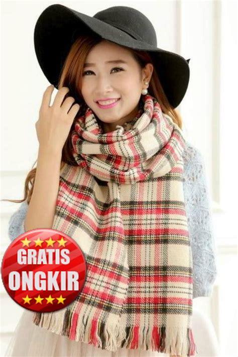 Scarf Wanita Kalung Wanita perlengkapan musim dingin wanita 3 color two sided scarf