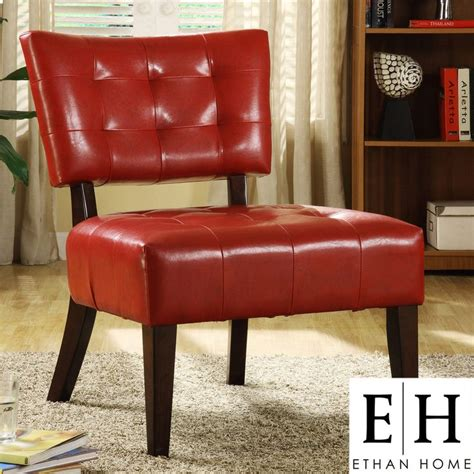 Overstock Living Room Chairs Ethan Home Faux Leather Armless Accent Chair Overstock Drc Lounge