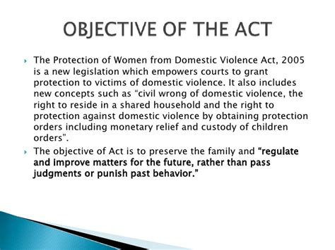 section 18 of domestic violence act 84 section 29 of domestic violence act chapter one