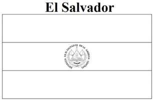 geography blog el salvador flag coloring page