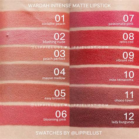 Harga Wardah Matte Lipstick Shade Choco Town swatch review wardah cosmetics matte lipstick