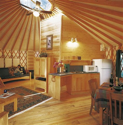 Yurt Photos Interior by Resort Cground Yurts Pacific Yurts