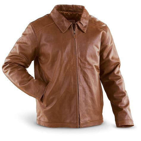 cowhide jackets vintage cowhide leather jacket brown 163409 insulated