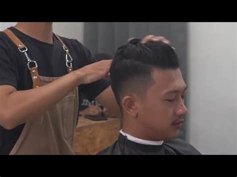 gaya rambut pria keren  belah samping youtube