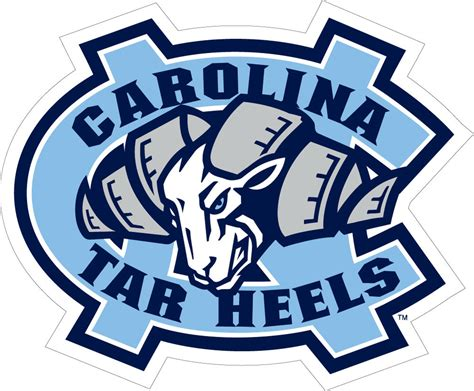 unc university of north carolina large ram logo decal ebay